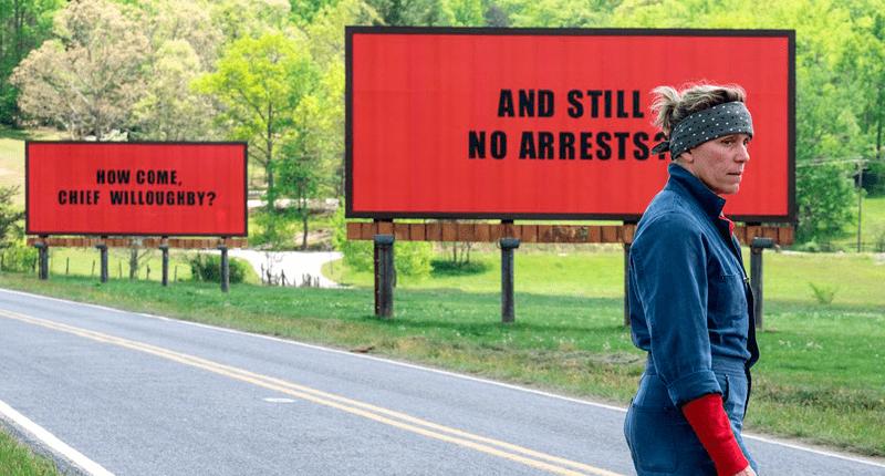 Estrenos: Interesantes ofertas en la cartelera semanal con los Globos de Oro como protagonistas Tres anuncios en las afueras