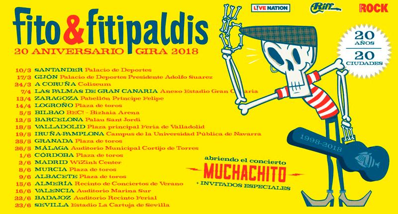"""Fito & Fitipaldis: """"20 años, 20 ciudades"""""""