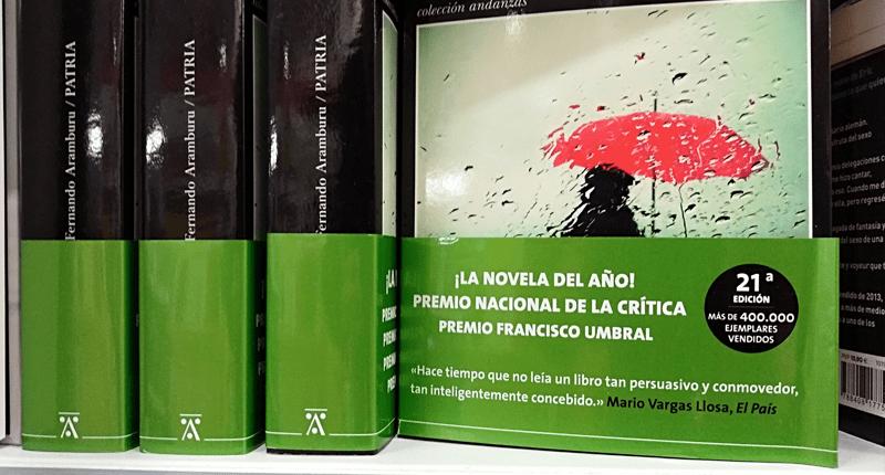 Patria, de Fernando Aramburu, el libro de ficción más vendido en 2017 hbo