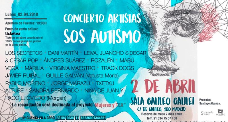 Concierto benéfico en Madrid a favor de las mujeres con autismo
