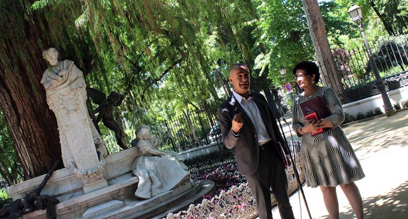 La glorieta de Bécquer en Sevilla brilla como nunca