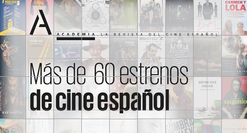 La Academia de Cine anuncia más de 60 estrenos antes de fin de año