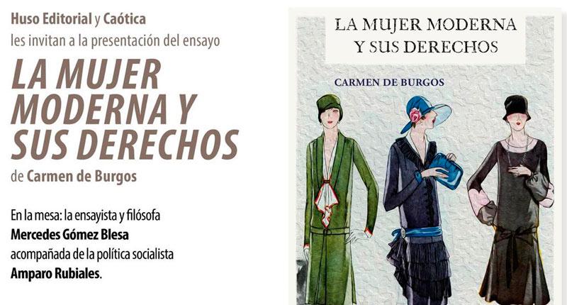 Espacio Caótica celebra la obra de Carmen de Burgos