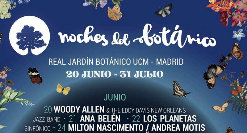 Noches del Botánico 2019 avanza su programación