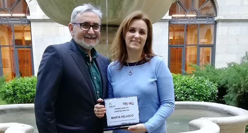 Marta Velasco recibe hoy el Premio Asecan Josefina Molina