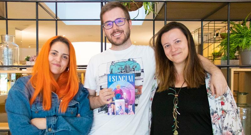 """Javier Ruescas: """"Nos gustaría que a los lectores les lleguen los mensajes de la novela y admiren sus dibujos"""""""