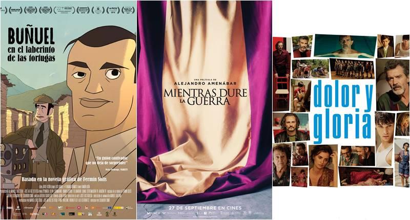 Buñuel en el laberinto de las tortugas, Dolor y gloria y mientras dure la guerra, preseleccionadas para los Oscar