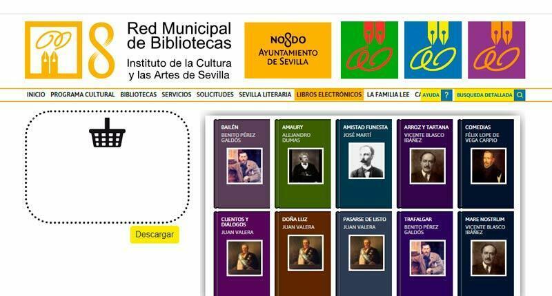 El Ayuntamiento de Sevilla ofrece su catálogo de libros electrónicos