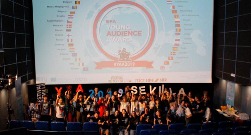 Jóvenes sevillanos votan los Young Audience Awards de la Academia de Cine Europeo