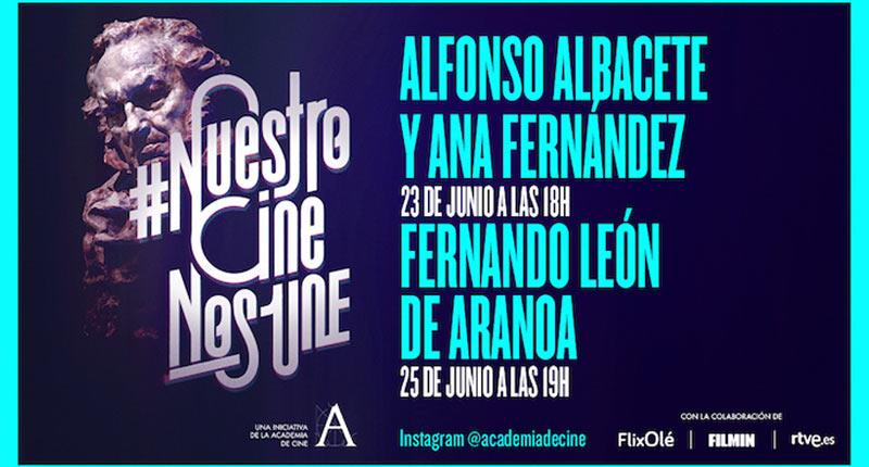 Ana Fernández, Alfonso Albacete y Fernando León de Aranoa, en #NuestroCineNosUne