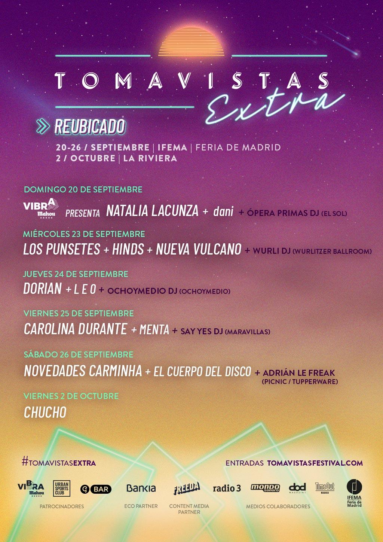 Tomavistas Extra tiene su cita con la música entre el 20 de septiembre y el 2 de octubre