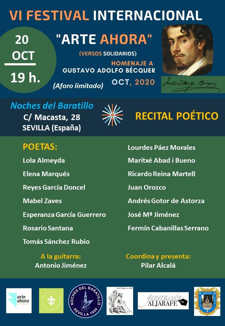 El Festival Internacional Arte Ahora rinde homenaje a Gustavo Adolfo Bécquer
