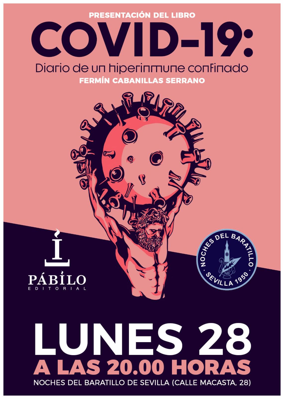 Fermín Cabanillas presenta en Sevilla el libro Covid-19. Diario de un hiperinmune confinado