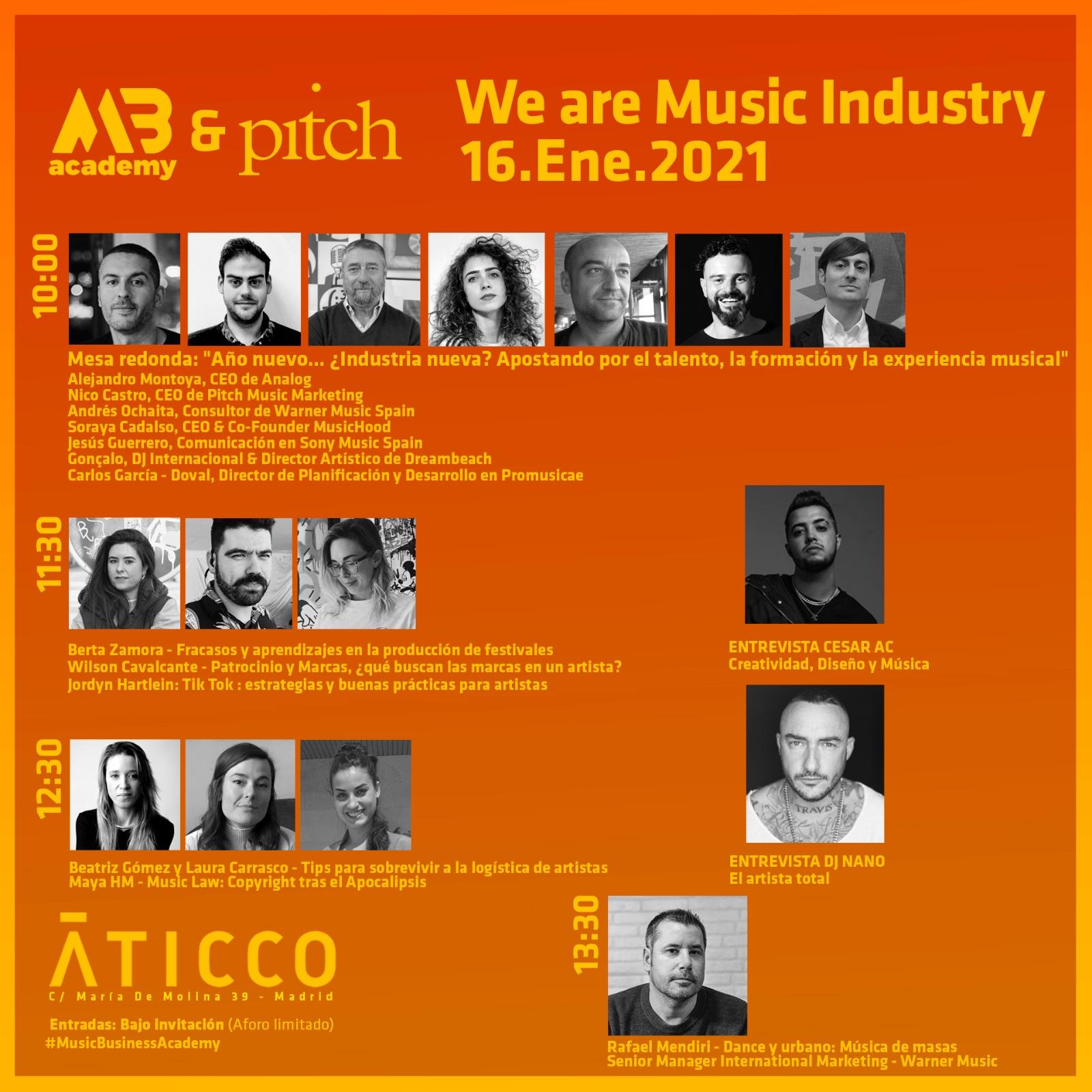 La industria de la música toma el timón de una cultura segura en  We are Music Industry