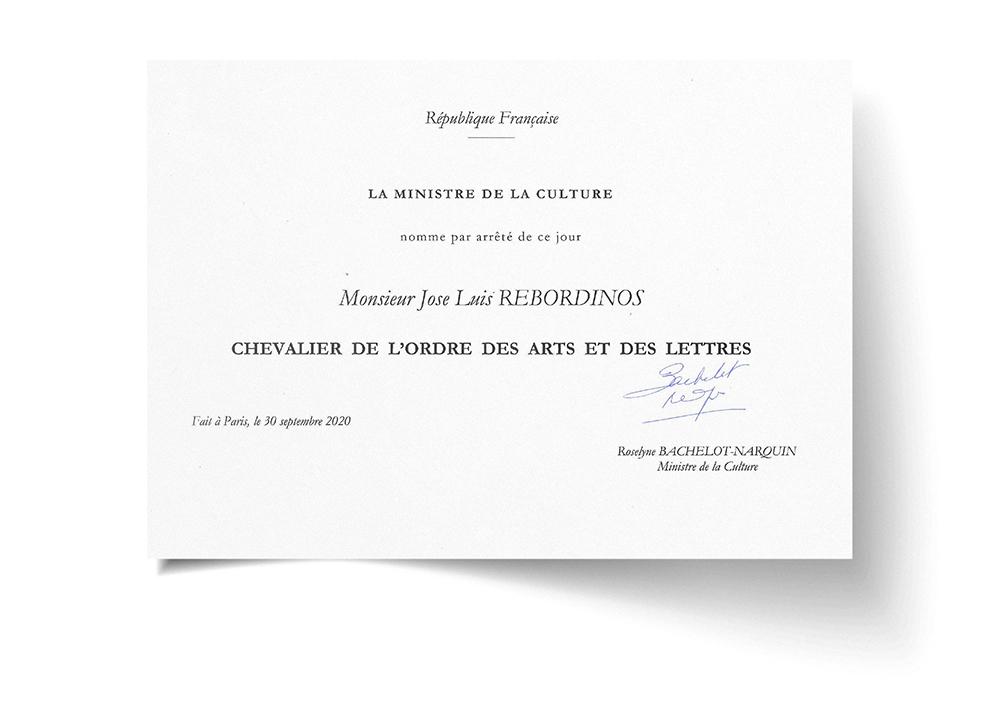 José Luis Rebordinos nombrado Caballero de la Orden de las Artes y de las Letras