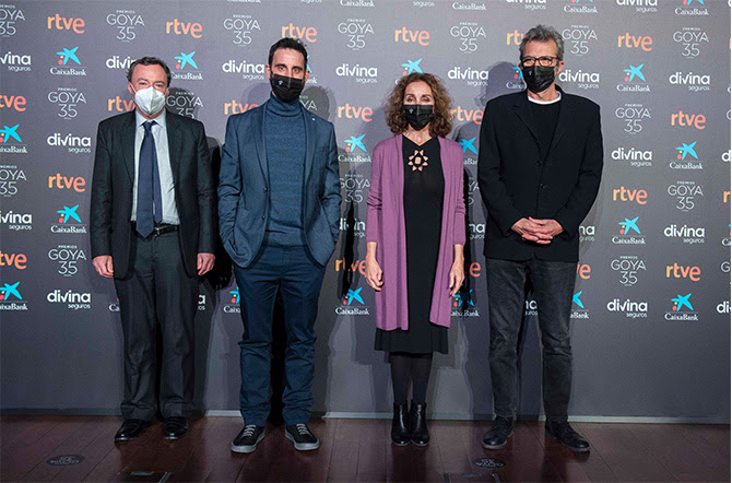 Hoy, Ana Belén y Dani Rovira se han encargado de anunciar las candidaturas en la sede de la Academia de Cine con la presencia de su presidente, Mariano Barroso.