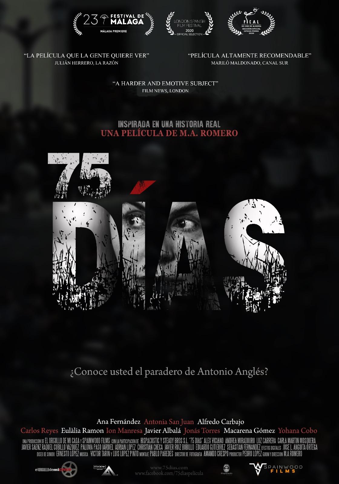 75 días inaugura la Sección Oficial del Festival de Cine Alicante