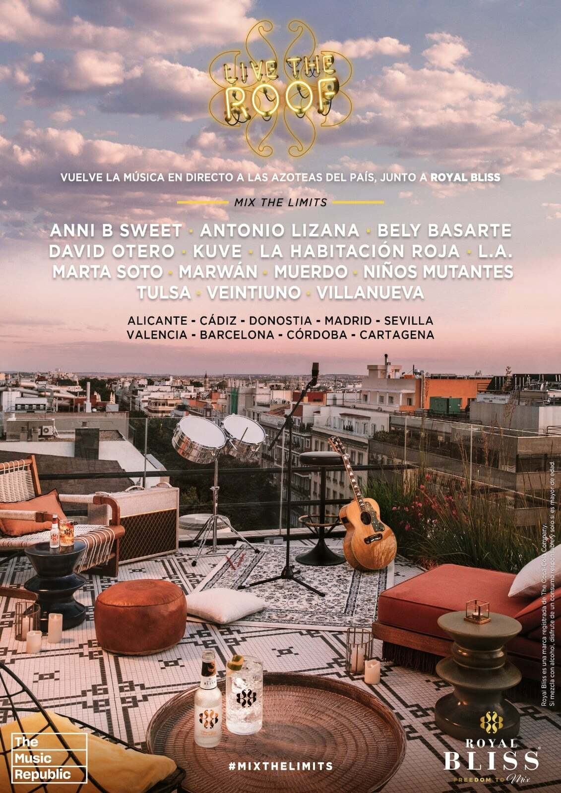 Llega la nueva edición de Live The Roof para poder disfrutar de este especial encuentro en los mejores atardeceres de la temporada estival.