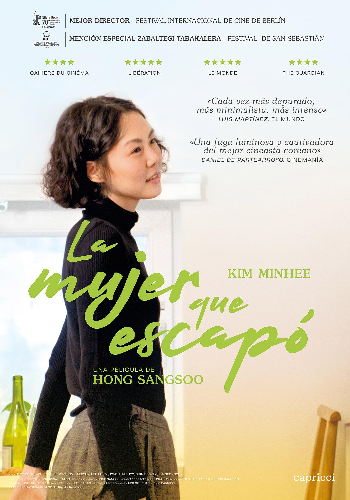 La mujer que escapó lo nuevo de Hong Sangsoo, llega a los cines el 16 de julio