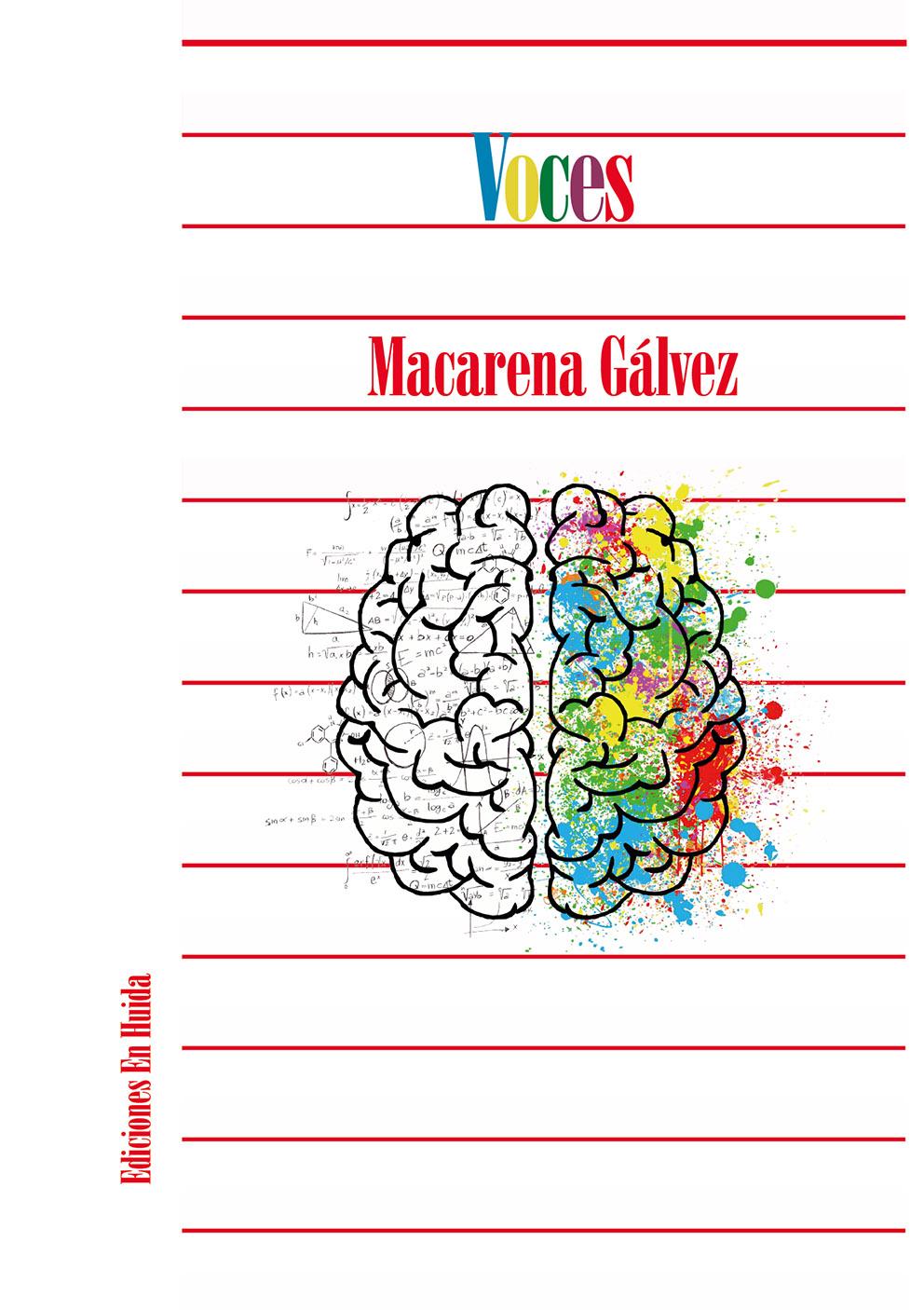 A sus recién cumplidos 18 años, la sevillana Macarena Gálvez ha publicado el poemario Voces, siendo este su tarjeta de presentación en el mundo de la creación literaria.